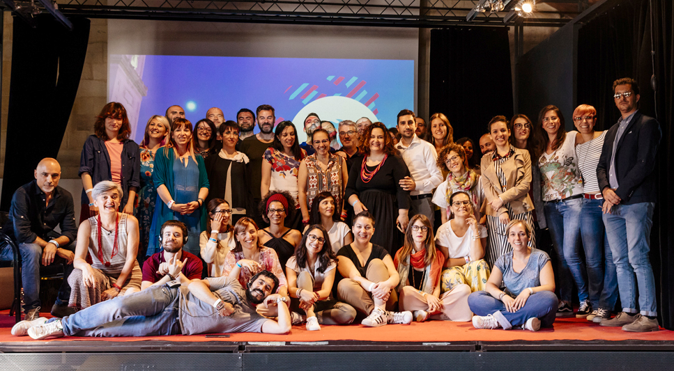 Foto di gruppo al Freelancecamp di Lecce 2018
